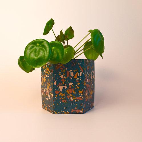 Terrazzo navy plant pot