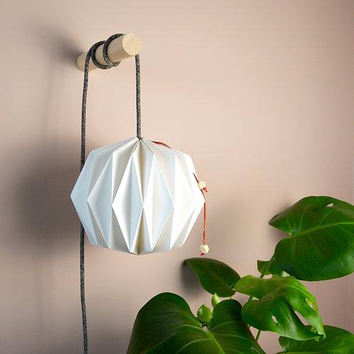 'Oblique' paper lampshade