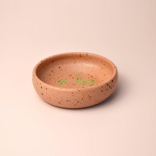 Pink ceramic trinket dish