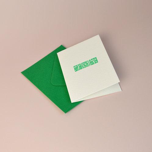 'Joy' letterpress cards
