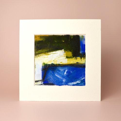 'Nightfall on the water' painting on fabric
