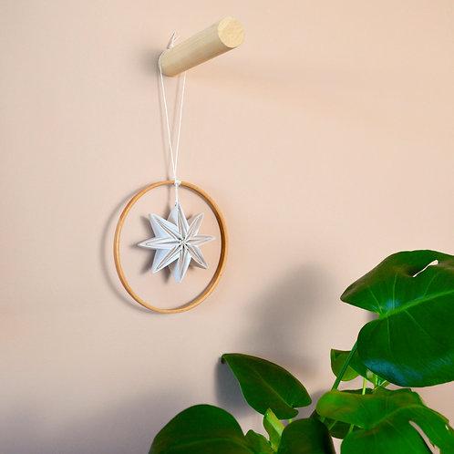 Origami star in hoop