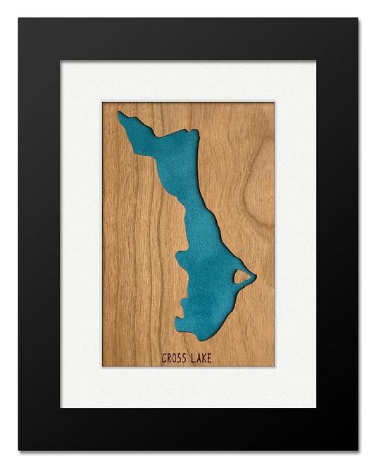 Cross Lake Framed Mini Map