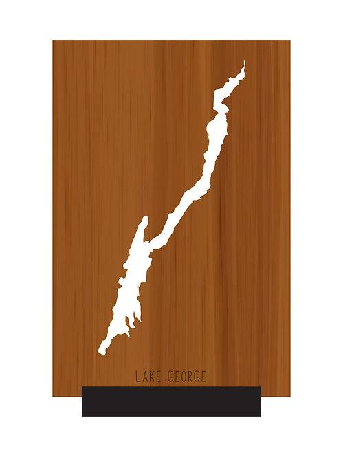 Lake George Free Standing Mini Map