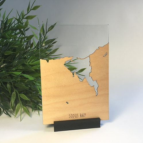 Sodus Bay Free Standing Mini Map