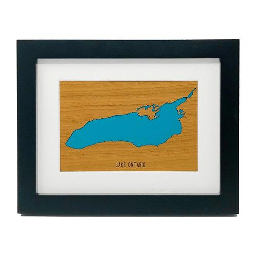 Lake Ontario Framed Mini Map
