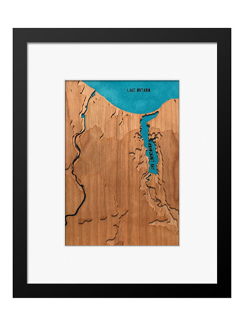 "Rochester, NY Cherry Topo Map 8"" x 10"" Frame at Central Rock Gym"