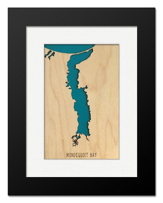 Irondequoit Bay Framed Mini Map
