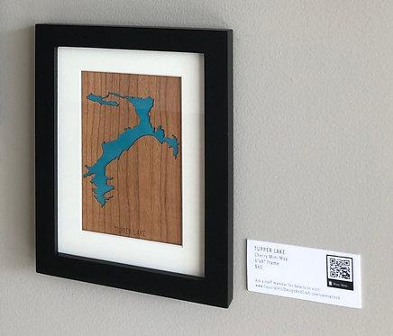 "Tupper Lake Cherry Mini Map 6""x8"" Frame at Central Rock Gym"