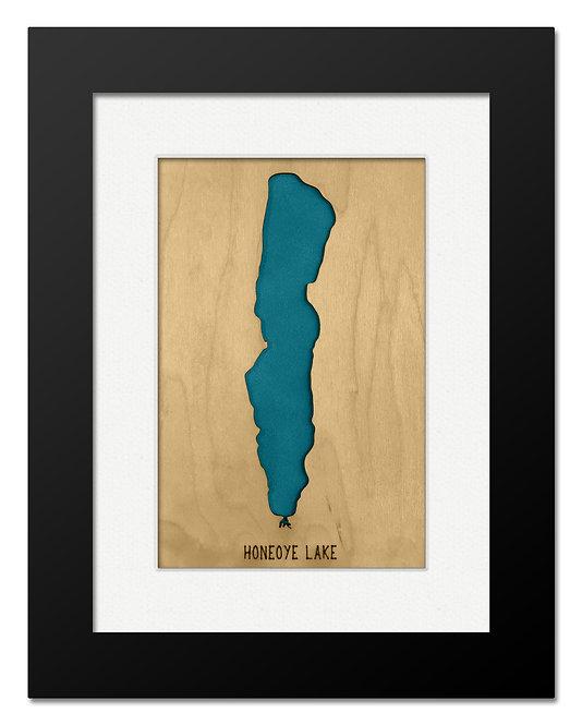 Honeoye Lake Framed Mini Map