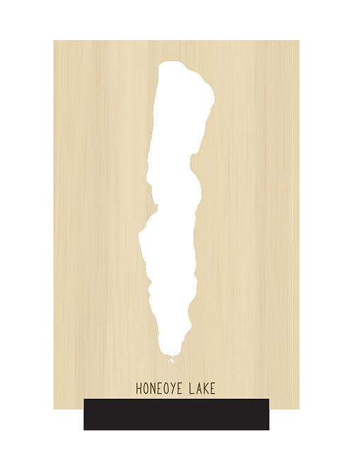 Honeoye Lake Free Standing Mini Map