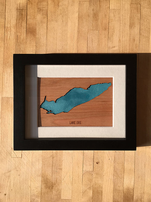 "Lake Erie Cherry Mini Map 8""x6"" Frame at Central Rock Gym"