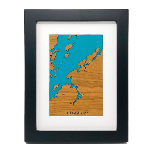 Alexandria Bay Framed Mini Map