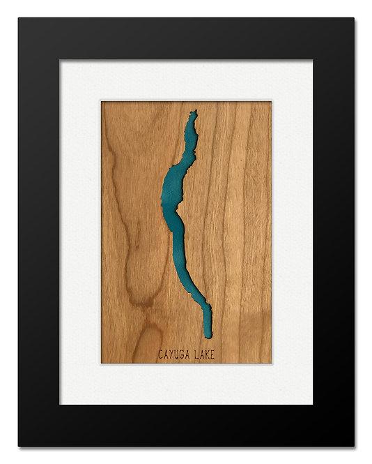Cayuga Lake Framed Mini Map