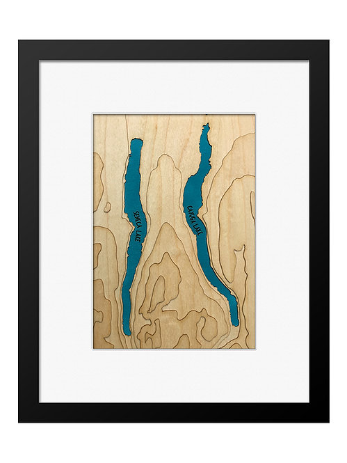 """Seneca and Cayuga Lakes, NY 8"""" x 10"""" Frame"""