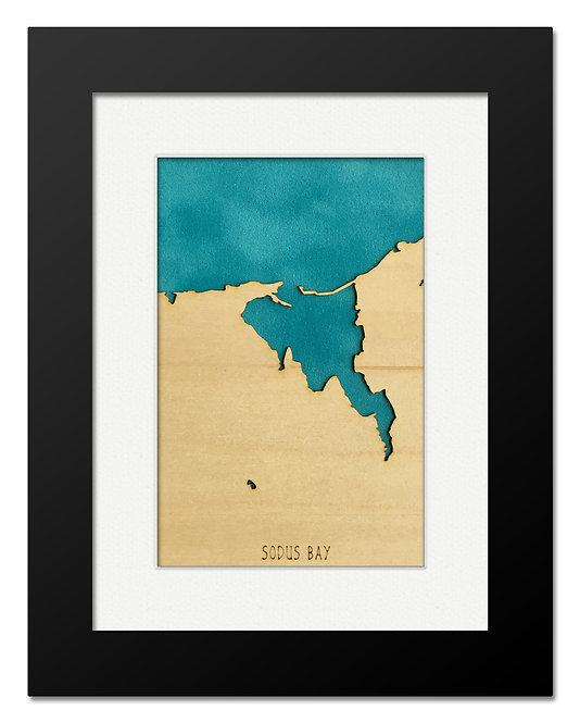Sodus Bay Framed Mini Map