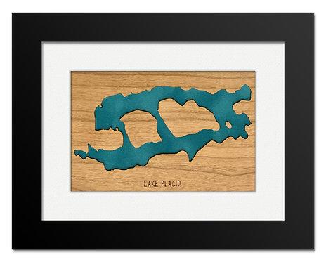 Lake Placid Framed Mini Map (Cherry)