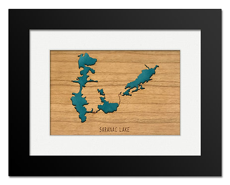 Saranac Lake Framed Mini Map