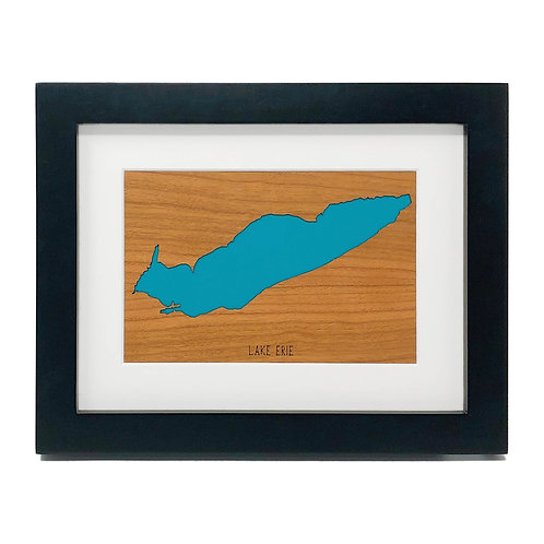 Lake Erie Framed Mini Map