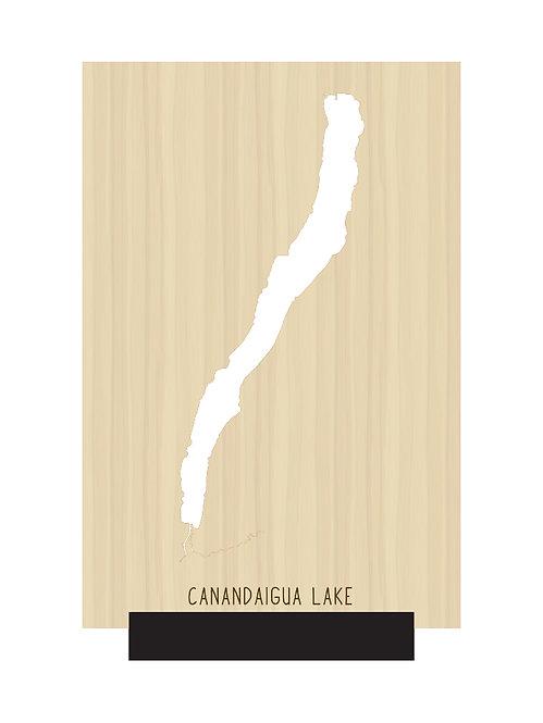 Canandaigua Lake Free Standing Mini Map