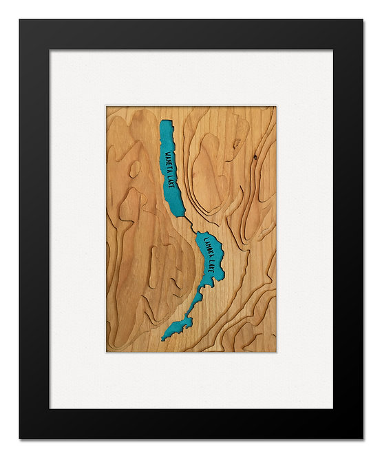 "Waneta & Lamoka Lakes 8"" x 10"" Frame"