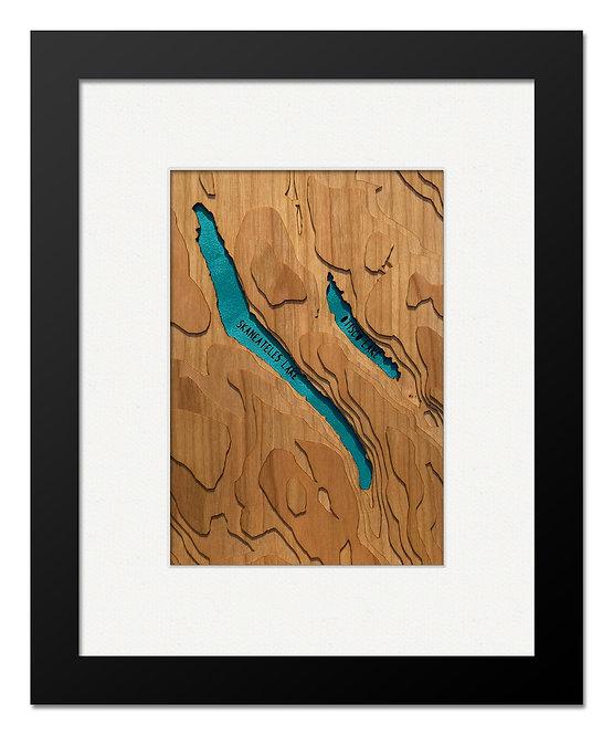 """Skaneateles & Otisco Lakes 8"""" x 10"""" Frame"""