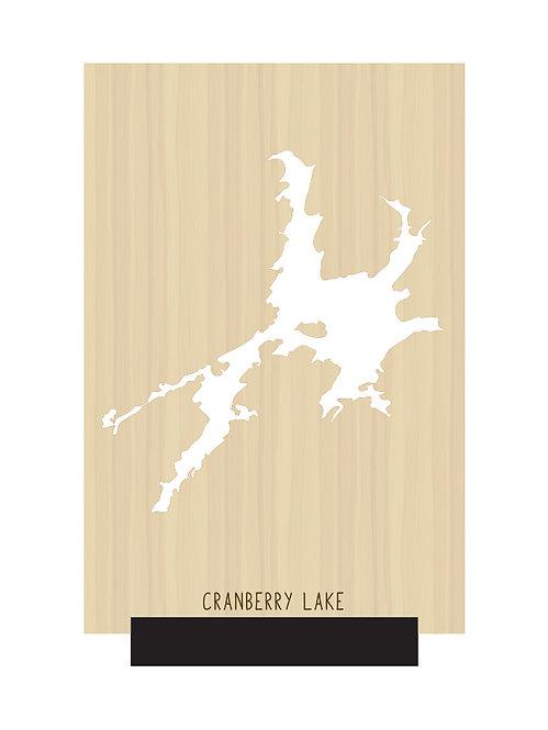 Cranberry Lake Free Standing Mini Map