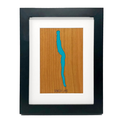 Seneca Lake Framed Mini Map