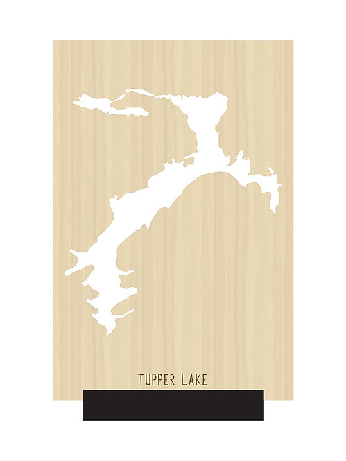 Tupper Lake Free Standing Mini Map