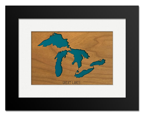 Great Lakes Framed Mini Map