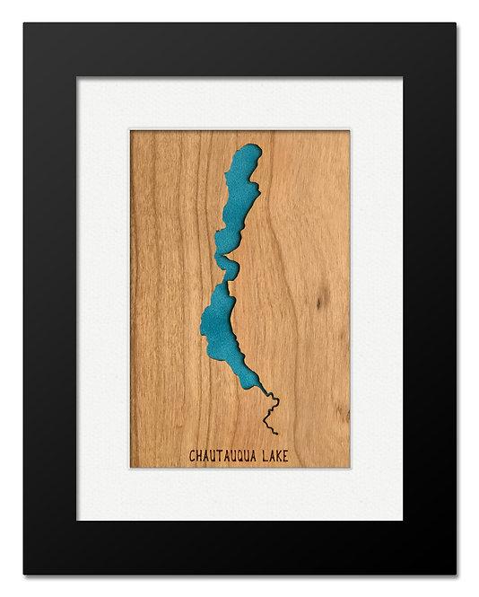 Chautauqua Lake Framed Mini Map