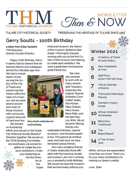 Then & Now Newsletter Winter 2021