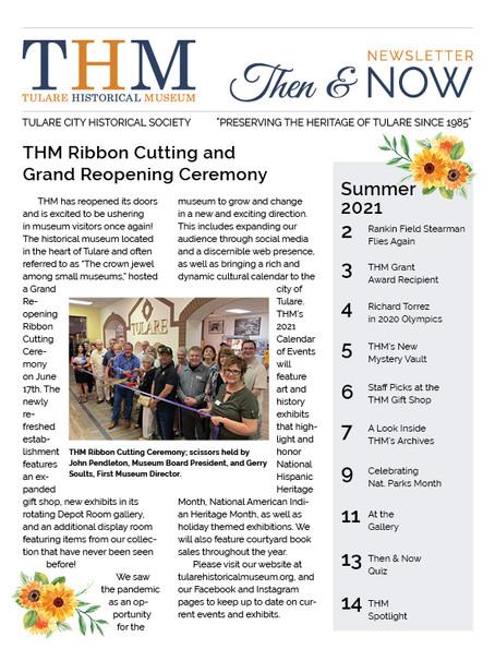 Then & Now Newsletter Summer 2021