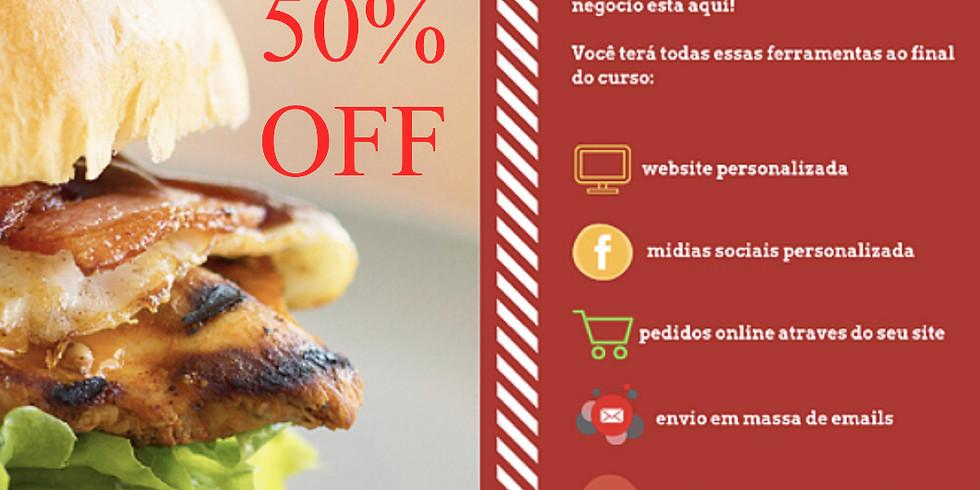 50% OFF E-Commerce para Restaurantes