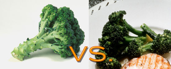 -Raw Food vs. Cooked Food -