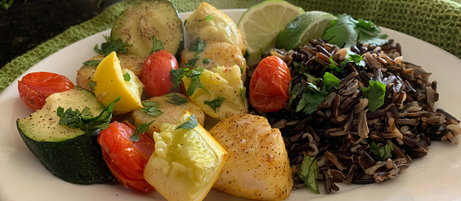 Spiced Scallop Kebabs