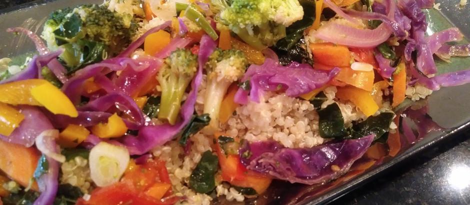 Vegetable Stir-Fry over Quinoa