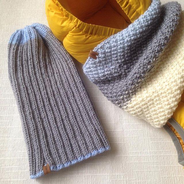 Крутой комплект, мега мягкий, нежный и тепленький💙😎⚽️ #вязание #вязанаяшапка #вязаныйснуд #шапка #