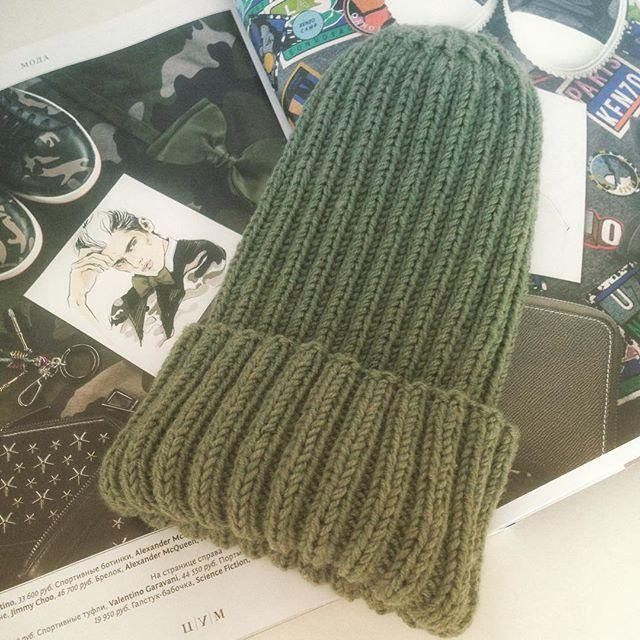 Тыковечная шапочка на осень 🎃🍂🍁☀;)️ носить можно и без подворота_)_#knit #knitforkids #knitting #