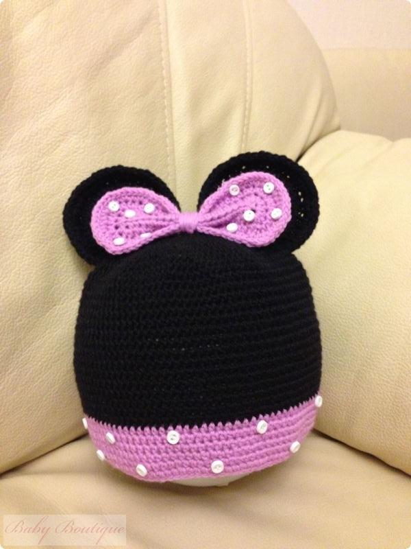 Шапочка детская вязаная Minnie Mouse