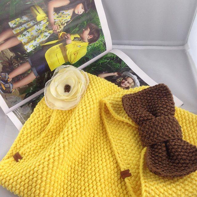 Солнечный комплект для девочки повязка-бант и снуд 💛🌼☀️🌿 #наосень #навесну ❌❌❌СНУД ПРОДАН, ПОВЯЗК