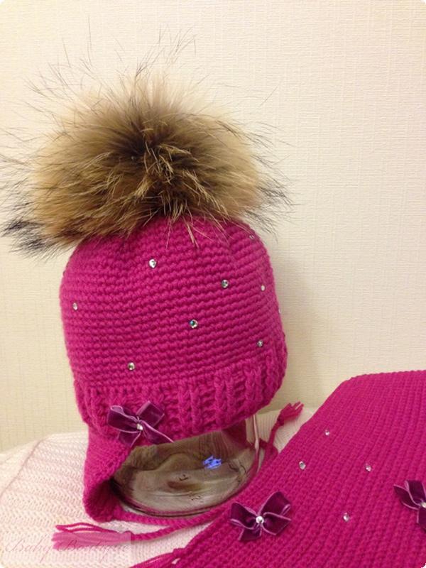 Шапка вязаная зимняя для девочки