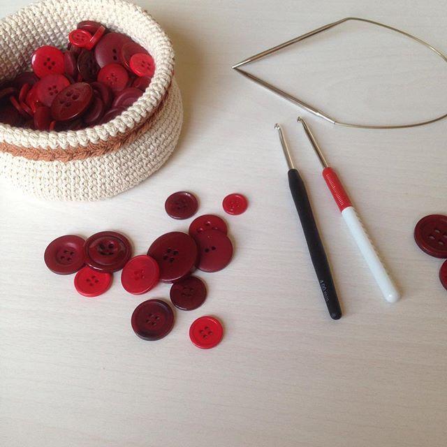 ❤️❤️❤️❤️❤️❤️❤️❤️❤️❤️❤️ #крючок #корзинки #вяжу #вяжукрючком #вязание #красный #вязанныекорзинки #руч