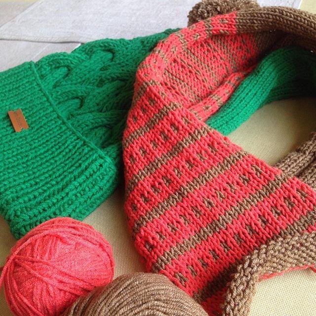 Подари настроение 🍃🍁🍂☺️ #длясына #спицами #длямальчика #вяжу #вязание #scarf #шарф #knit #knittin