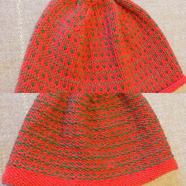 Тот самый случай, когда и так и так #нравится 😊🍁🍊 #жакард  #i_loveknitting #vscolove #knittinghat