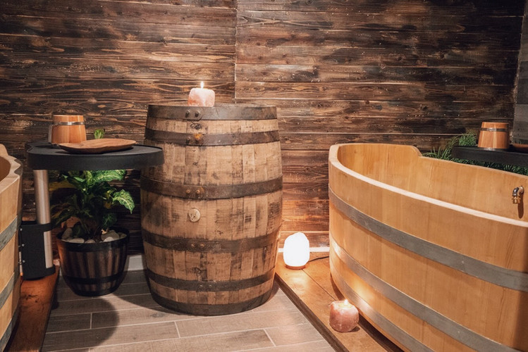 One of our soak rooms