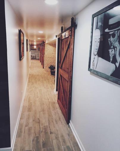 Beer soak hallway