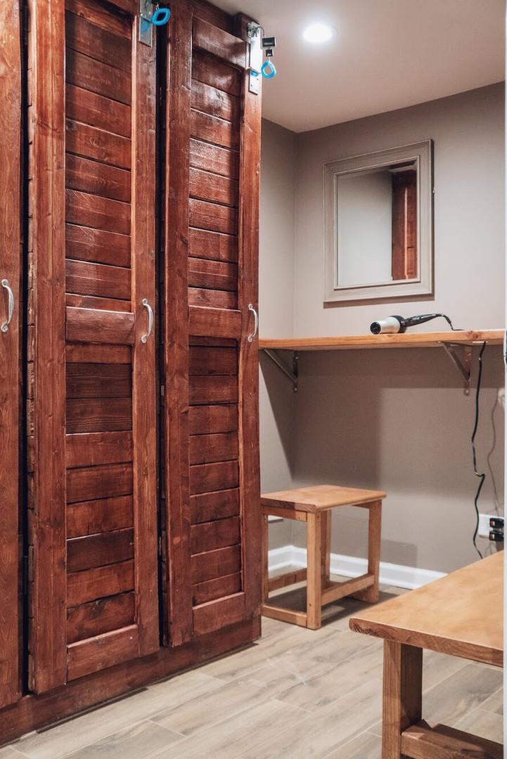 custom built wood lockers