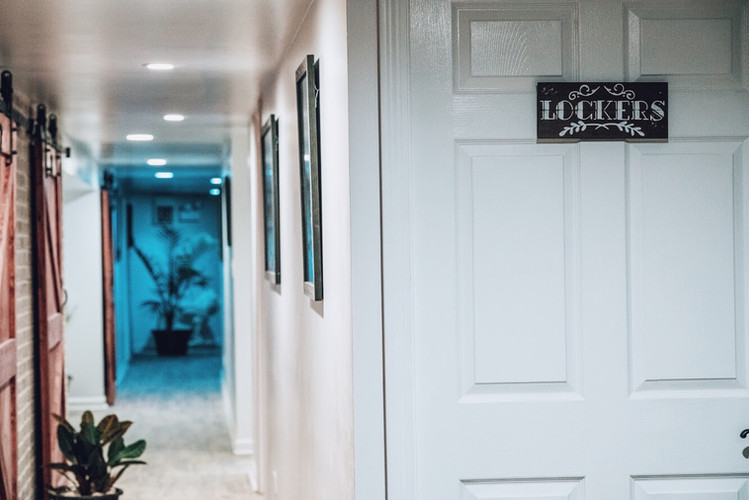 Locker Rooms and Hallway