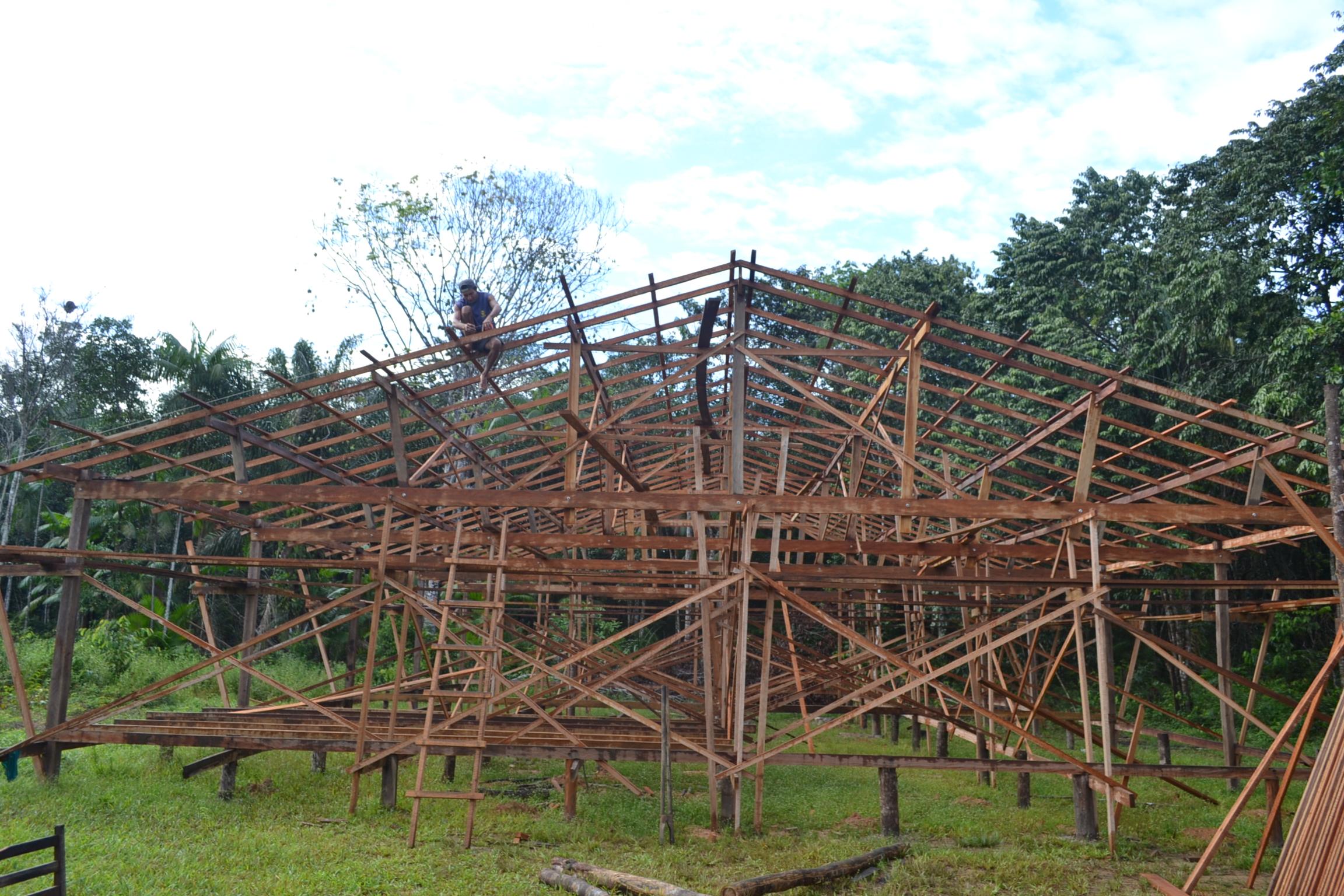 Construção da Escola Comunitária de São Miguel